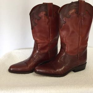 JOAN & DAVID LEATHER WESTERN BOOTS SIZE 6